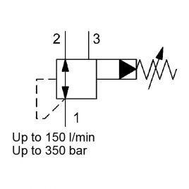 Pilot Operated, Spool Type, Metric Cartridge - DRM10130P-01
