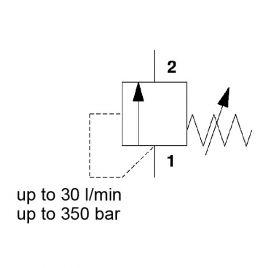Direct Acting, Poppet Type, Metric Cartridge - DZM06020-01