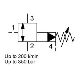 Pilot Operated, Spool Type, Metric Cartridge - DZM12131PE