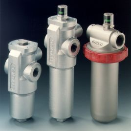 Inline Filter with Differential Pressure Relief Valve - LFM