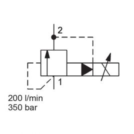 Pilot Operated, Spool Type, SAE-12 Cartridge - PDB12P-01