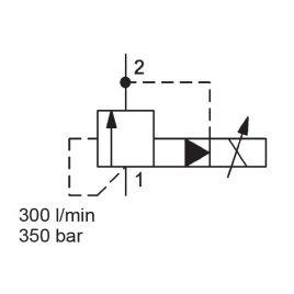 Pilot Operated, Spool Type, SAE-16 Cartridge - PDB16P-01