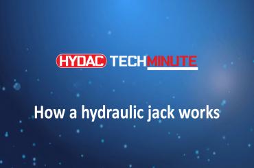HYDAC TechMinute: How a hydraulic jack works.