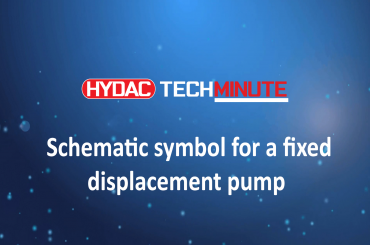 HYDAC TechMinute: Schematic symbol for a fixed displacement pump