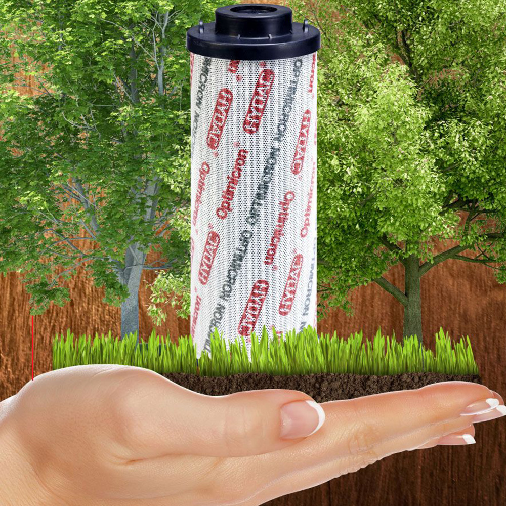 Optimicron – Innovative filter element technology for sustainable filtration.