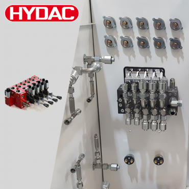 HYDAC load sensing LX6 valve bank pips PVG32 to goal post