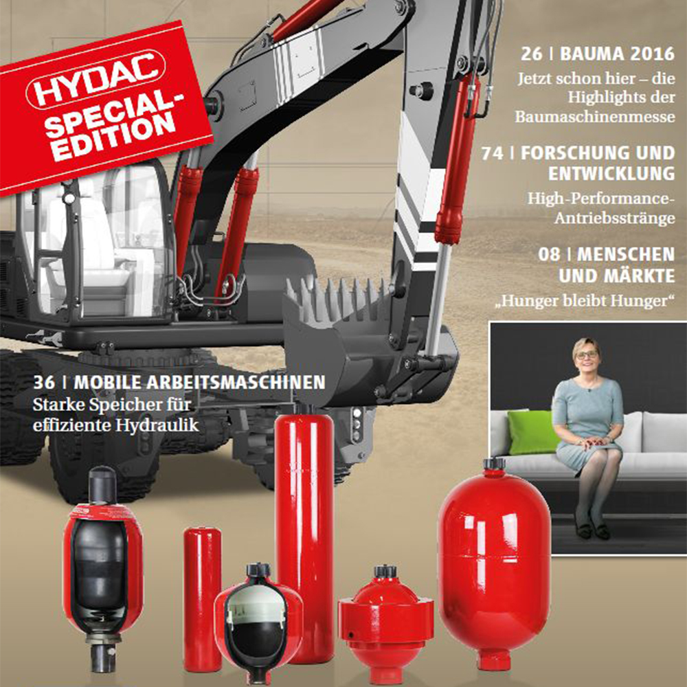 Strong accumulators for powerful hydraulics