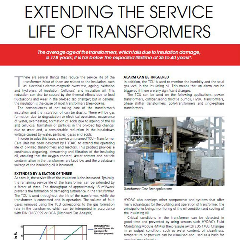 HYDAC TCU – Transformer Care Unit