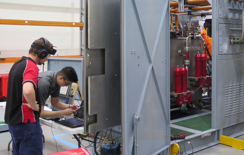HYDAC executed a factory acceptance test of an iron ore wheel lock hydraulic power unit