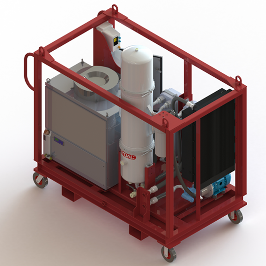 HYDAC varnish elimination unit for clean oil filters