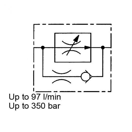 2-Way Flow Regulator, Pressure Compensated, Cartridge, SRE 1 to 4