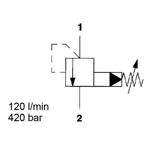 Pressure relief valve DB10P