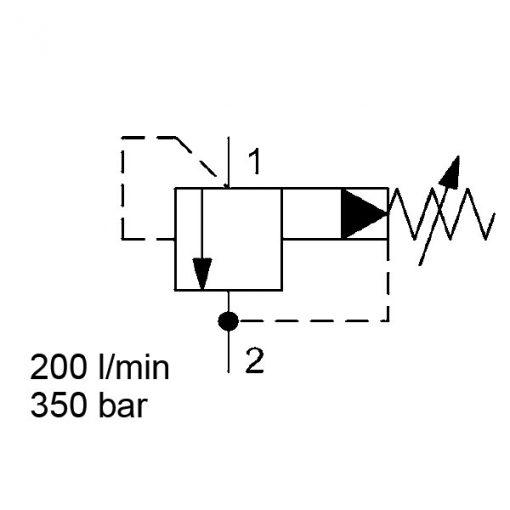 Pressure relief valve DB12P