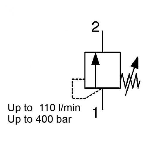 Pressure relief valve DB12120A-CE
