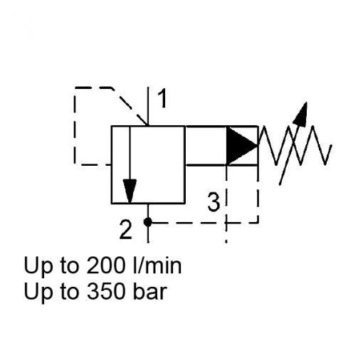 Pressure relief DB12121PF-01