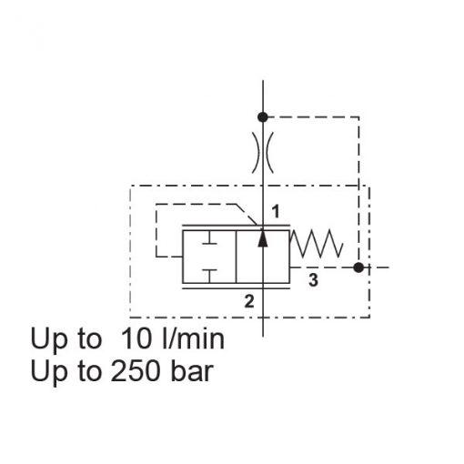 Pressure compensator valve DW05830V