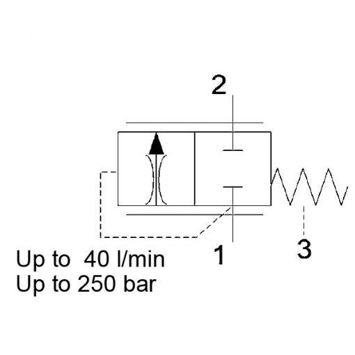 Pressure compensator valve DWM08130Z