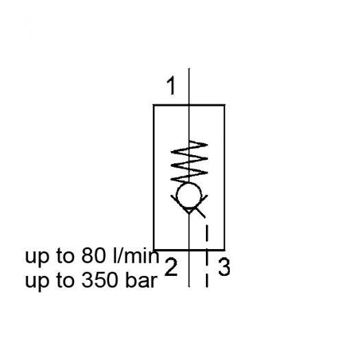 Direct Acting, Poppet Type, Metric Cartridge RP10121