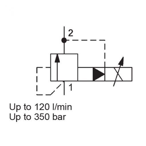 Relief valve PDBM10120AP