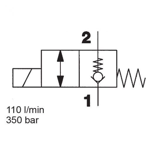 2/2 Solenoid Directional Valve WS12ZR-01
